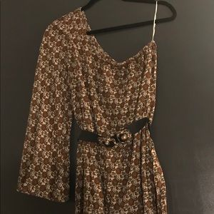 ZARA TRF Collection One shoulder Dress